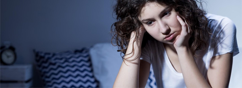 woman troubled sleeping